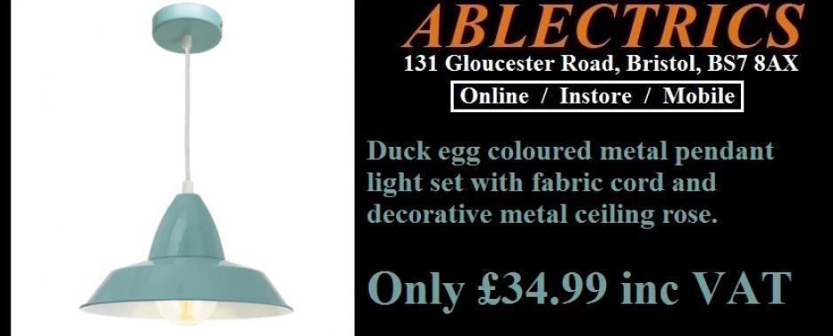 Duck Egg Pendant Light Only GBP3499