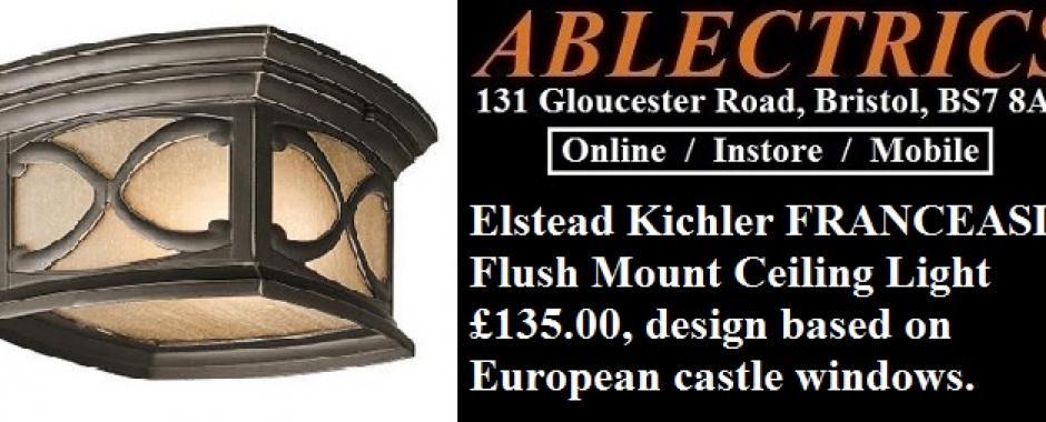 elstead kichler franceasi flush mount ip44 ceiling light 135 00
