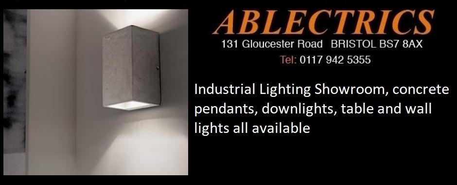 industrial lighting, concrete lighting, steampunk lighting, concrete pendant, industrial lighting showroom, concrete downlights,