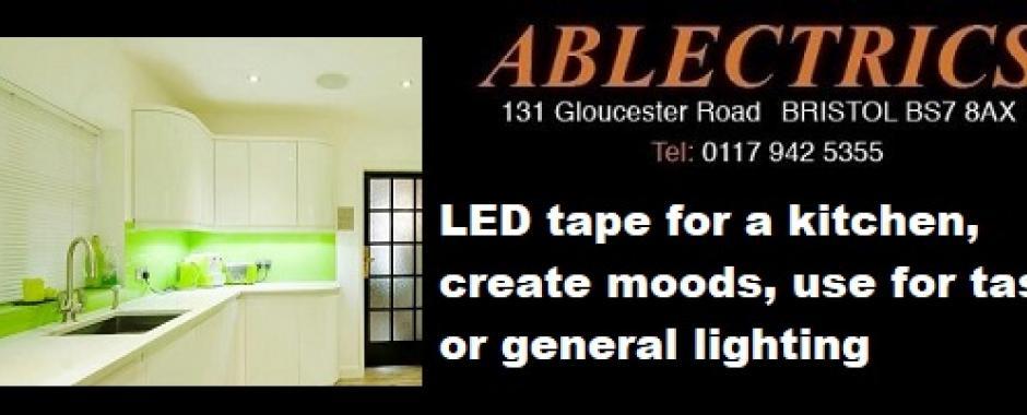 led lighting, led tape, kitchen lighting, 2700k led tape, 4000k led tape, mood lighting, task lighting, worktop lighting,