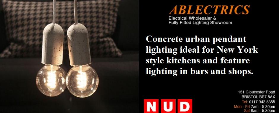Nud concrete pendant lights electricsandlighting these urban style concrete pendants start at 4995 each we have had a lot of success specifying these funky and unusual pendant lights aloadofball Images
