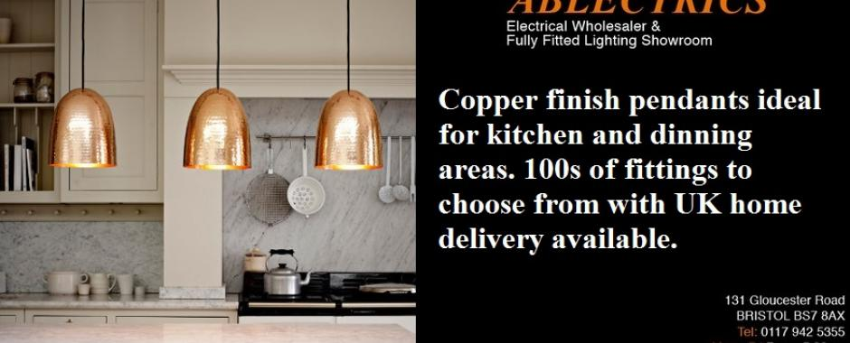 Copper finish kitchen pendant lighting electricsandlighting copper finish kitchen pendant lighting workwithnaturefo