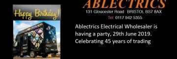 birthday party, collingwood lighting, gloucester road business, bbq, ablectrics, lighting showroom, gloucester road bbq, gloucester road music, 45th birthday bash