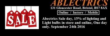 Ablectrics electrical wholesale, ablectrics lighting sale, bristol lighting, lighting shops in bristol, indoor lighting, exterior lighting, led lighting