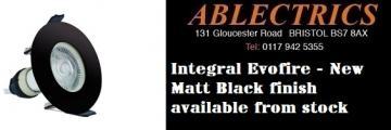 black downlights, matt black downlights, black evofire, evofire downlights, matt black downlights, matt black accessories, kitchen downlights, bathroom downlights,
