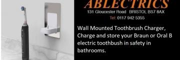 toothbrush charger, ip toothbrush charger, bathroom charger, bathroom toothbrush charger, electric toothbrush charger, bathroom lighting, lighting designer, ip rated, bathroom rated,