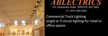 track lighting, retail lighting, commercial track, 3 circuit track, office lighting, shop lighting, gallery lighting,