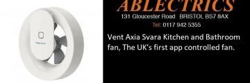 app controlled, vent axia, bathroom fan, kitchen fan, vent axia stockist, svara stockist, vent axia svara, bluetooth fan