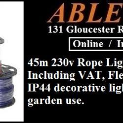 45m 230v Rope Light for £70.00 Including VAT