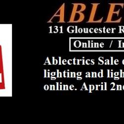 Ablectrics sale day, ablectrics electrical wholesale, ablectrics lighting showroom,