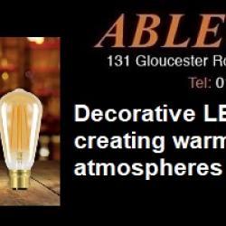 decorative led, decorative lamps, squirrelcage, globe, lp60, antique style led, 2200k lamps, high cri leds,