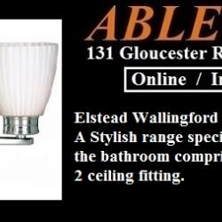 bathroom range, elstead bathroom, elstead wallingford, polished chrome batheroom fitting, ip44 wall light, elstead ip44,