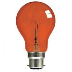 fireglow, fire glow incandescent light bulb, fire light bulb, 60w fireglow,