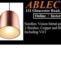 nordlux pendant, metal pendant, nordlux vision, nordlux vision pendant, nordlux copper pendant, nordlux black pendant, black vision, copper vision