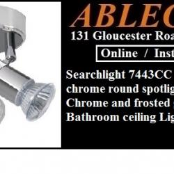 Searchlight 7443CC Aries IP44 3 Light Chrome Round Spotlight For GBP4499