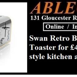 swan toaster, swan appliances, swan retro, designed for life, retro blue, vintage collection, swan vintage