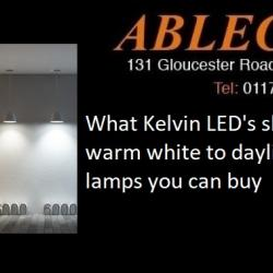 led colours warm white led, cool white led, daylight led, gu10 led, decorative led, led's for sale in bristol, colour rendering explained, what is kelvin, what colour temperature do i need?