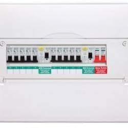 fuse board, consumer unit, distribution board bg electrical, british general, mcb, rcbo, mains switch, rcd, split board, dual rcd,