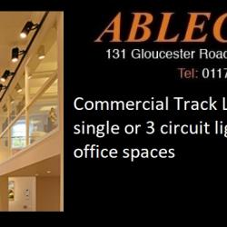 track lighting, retail lighting, commercial track, 3 circuit track, office lighting, shop lighting, gallery lighting,