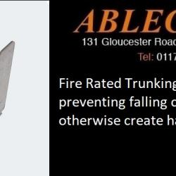 trunking clips, fire rated clips, fire regulations, trunking regulations, trunking accessories