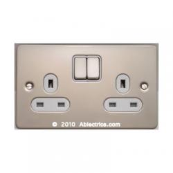 get, light switch, schneider, dimmer, flat plate, metal finish, socket, cooker switch, spur, isolator