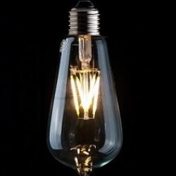 vintage lighting, vintage led, led squirrel cage, led lighting,