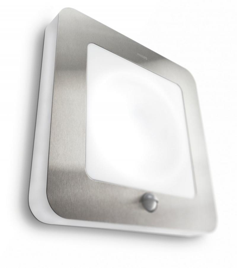 Philips 169024716 Orchard Wall Lantern Inox Pir