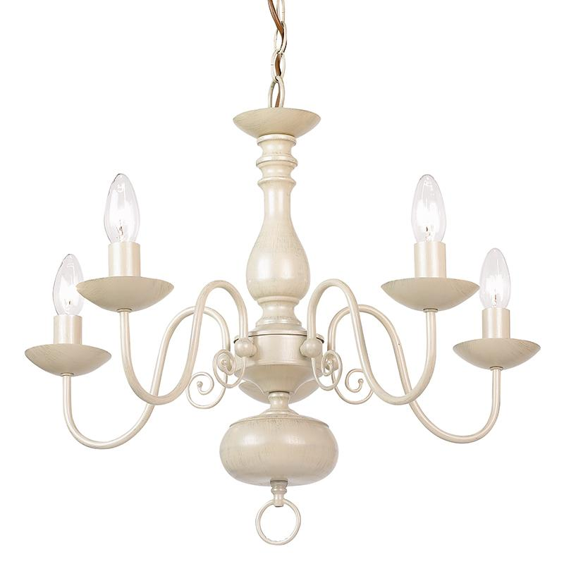 Matching Ceiling Lights And Table Lamps : Endon cr light chandelier in cream and gold