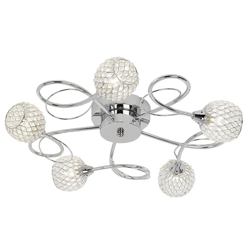 Endon AHERNE-5CH Polished chrome 5 light fitting
