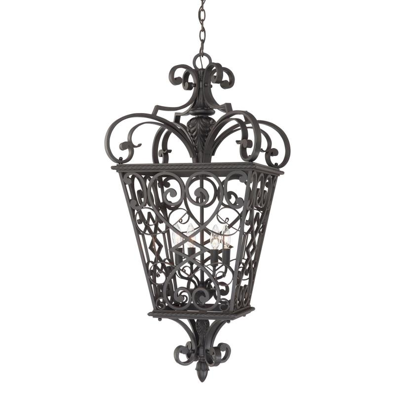 Country Rustic New Orleans Style 4 Light Chain Lantern