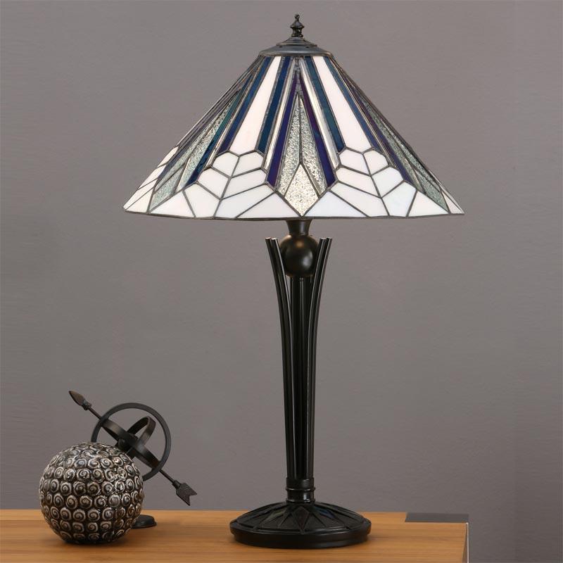 interiors1900 t026sh40 tg08tb astoria art deco tiffany table lamp. Black Bedroom Furniture Sets. Home Design Ideas
