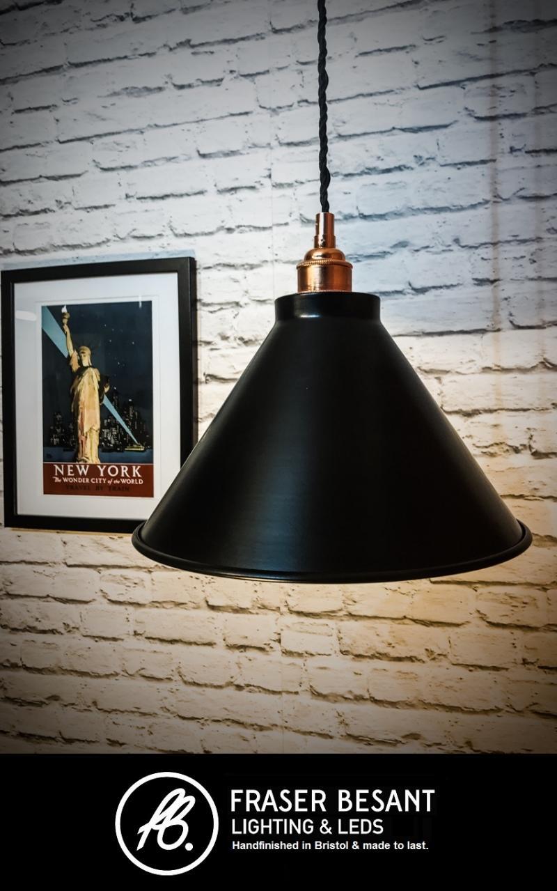 Black 260mm Pendant Set With Metal Lampholder E27