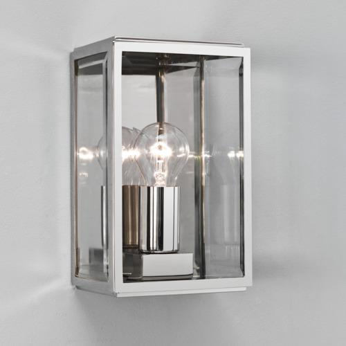 Chrome Garden Wall Lights : Astro Polished chrome IP44 garden wall light Electricsandlighting.co.uk
