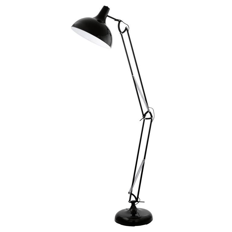 Eglo 94698 borgillio black floor lamp electricsandlighting eglo 94698 borgillio black floor lamp aloadofball Images
