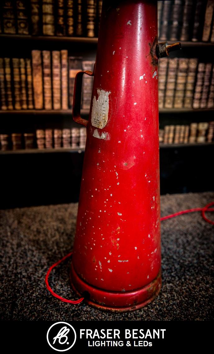 1950s English Vintage Fire Extinguisher Converted Into A