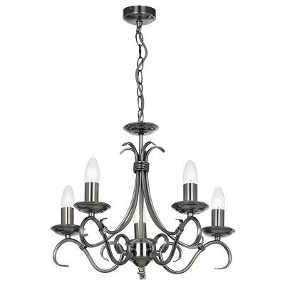 Endon 2030-5AS Antique silver 5 light fitting