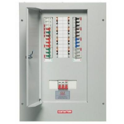 contactum 6 way tp n distribution board complete with incomer rh electricsandlighting co uk 3-phase power fuse box 3 phase fuse box uk