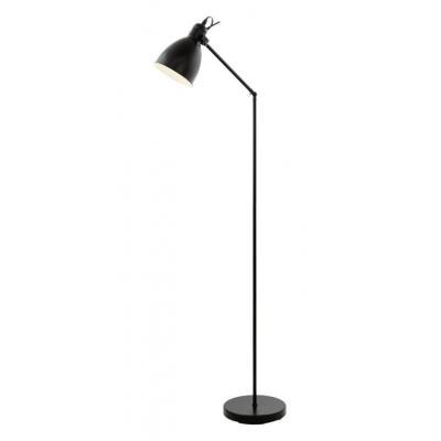 Eglo priddy 49471 black metal floor lamp electricsandlighting eglo priddy 49471 black metal floor lamp aloadofball Images