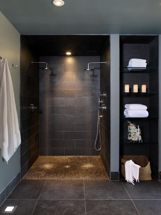 Superb Walk In Shower Designs Uk Part - 9: Exellent Modern Walk In Shower Walkin Inside The New Custom Model Home By  Wedgewood Building Company D Design