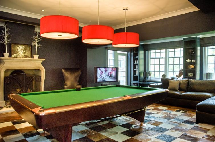 Games room lighting electricsandlighting to recreate this look you will need three separate pendants to hang over the pool table you could always choose a bar pendant instead keyboard keysfo Images