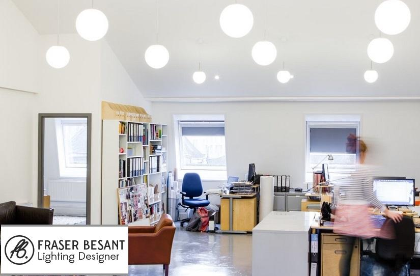 the brief on this job was modern but not office lighting the challenge was the ceiling height i didnt want to use your standard office cat2 pendants or cat 2 office lighting